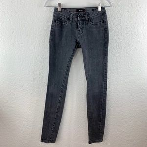 BDG UO Grey Mid Rise Cigarette Skinny Ankle Jeans
